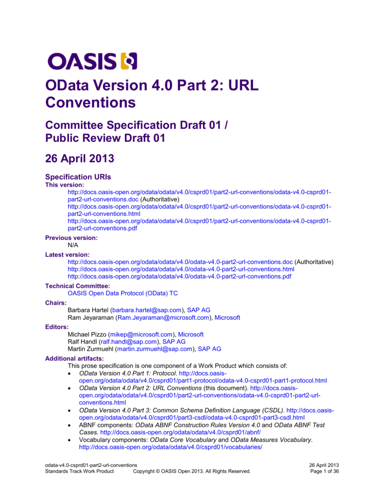 odata-v4 0-csprd01-part2-url-conventions