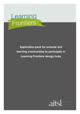 Learning Frontiers design hubs - Australian Institute for Teaching