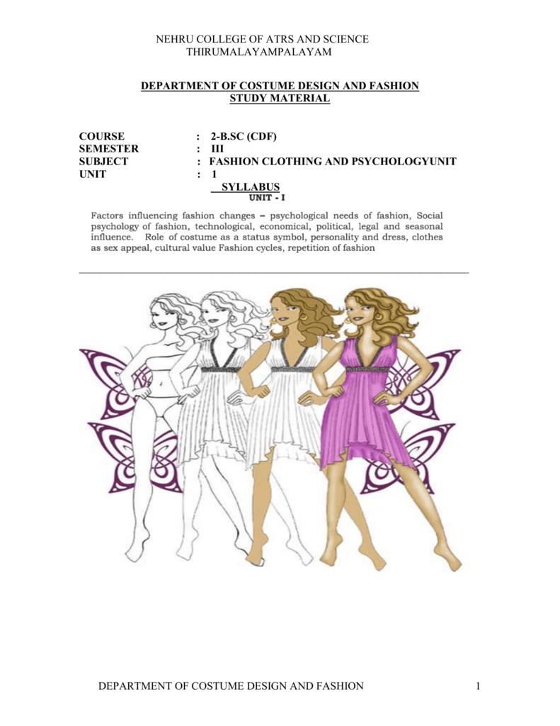 f03da529150 FASHION AND CLOTHING PSYCHOLOGY - E