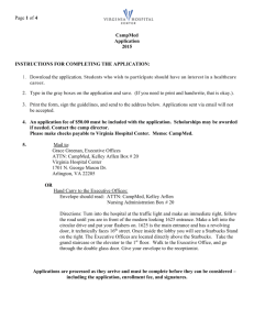 Page 1 of 4 CampMed Application 2015 INSTRUCTIONS FOR