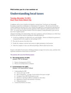 Local taxes invitation - P&A Grant Thornton