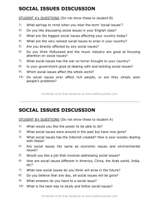 ESL conversation lesson on social issues