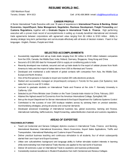 International-Trade - A Resume World Inc.