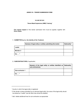 08. Template Tender Submission Form