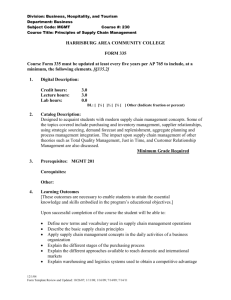 FORM 335 - Harrisburg Area Community College