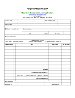 101 Sample Word Expense Reimbursement Form
