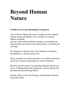 Human Nature: unitary, multiple, given, constructed