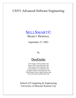 SellSmart Project Proposal - University of Missouri
