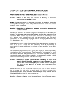 chapter 5 job design and job analysis