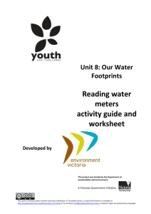 Reading water meters activity guide and worksheet