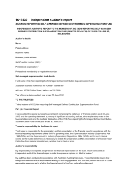 Instructions and form for approved auditors of smsfs 163430 independent auditors report altavistaventures Image collections