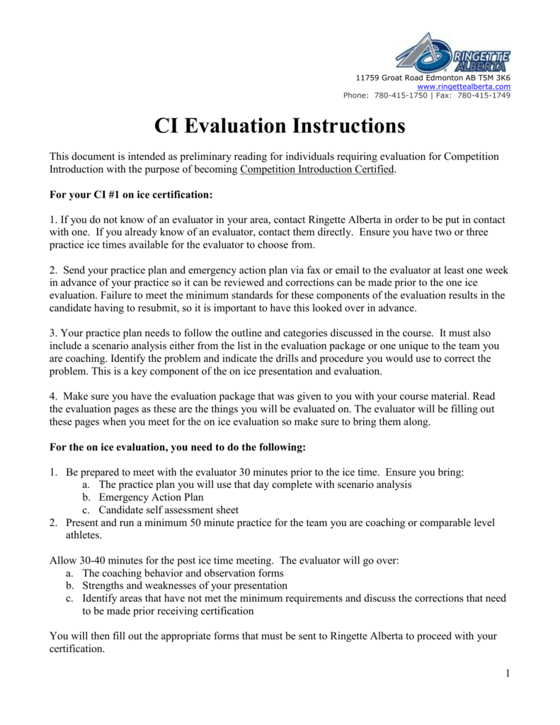 Ci And Ci Gradation Instructions