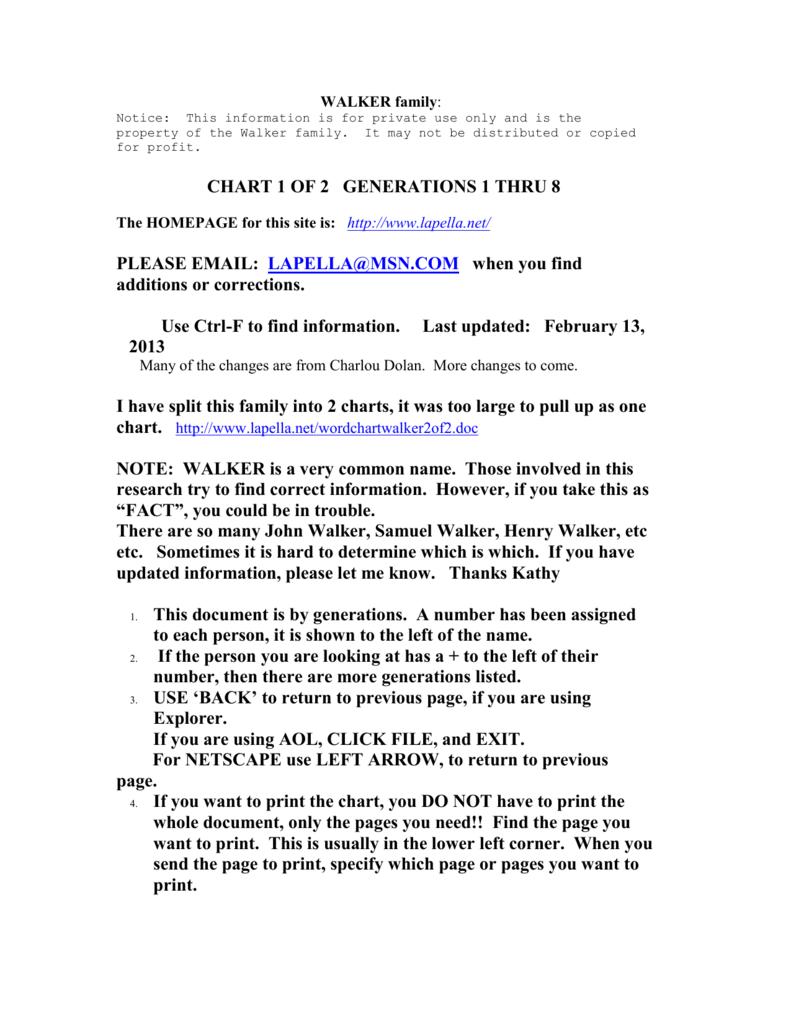 please email: lapella@msn - The Brehm/LaPella Family Tree