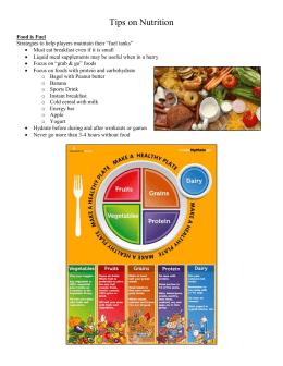 Swimmer Nutritional Information