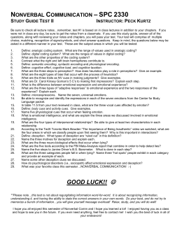 to test 2 study guide - SPC 2330