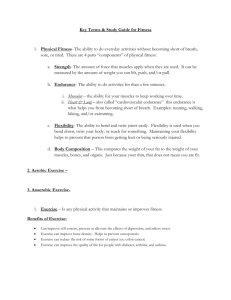 Fitness Center Study Guide - Wood-Ridge School District / Homepage