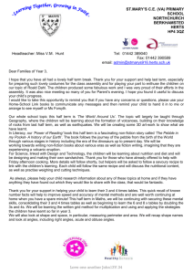 Year 3 Curriculum Letter Spring 2015