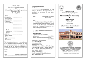 AICTE - ISTE Registration Form