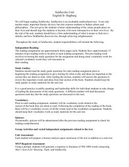 study guide questions answer key siddhartha rh studylib net Anthem Study Guide Questions Sample of a Study Guide