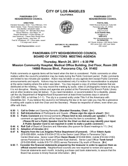 city of los angeles - Panorama City Neighborhood Council