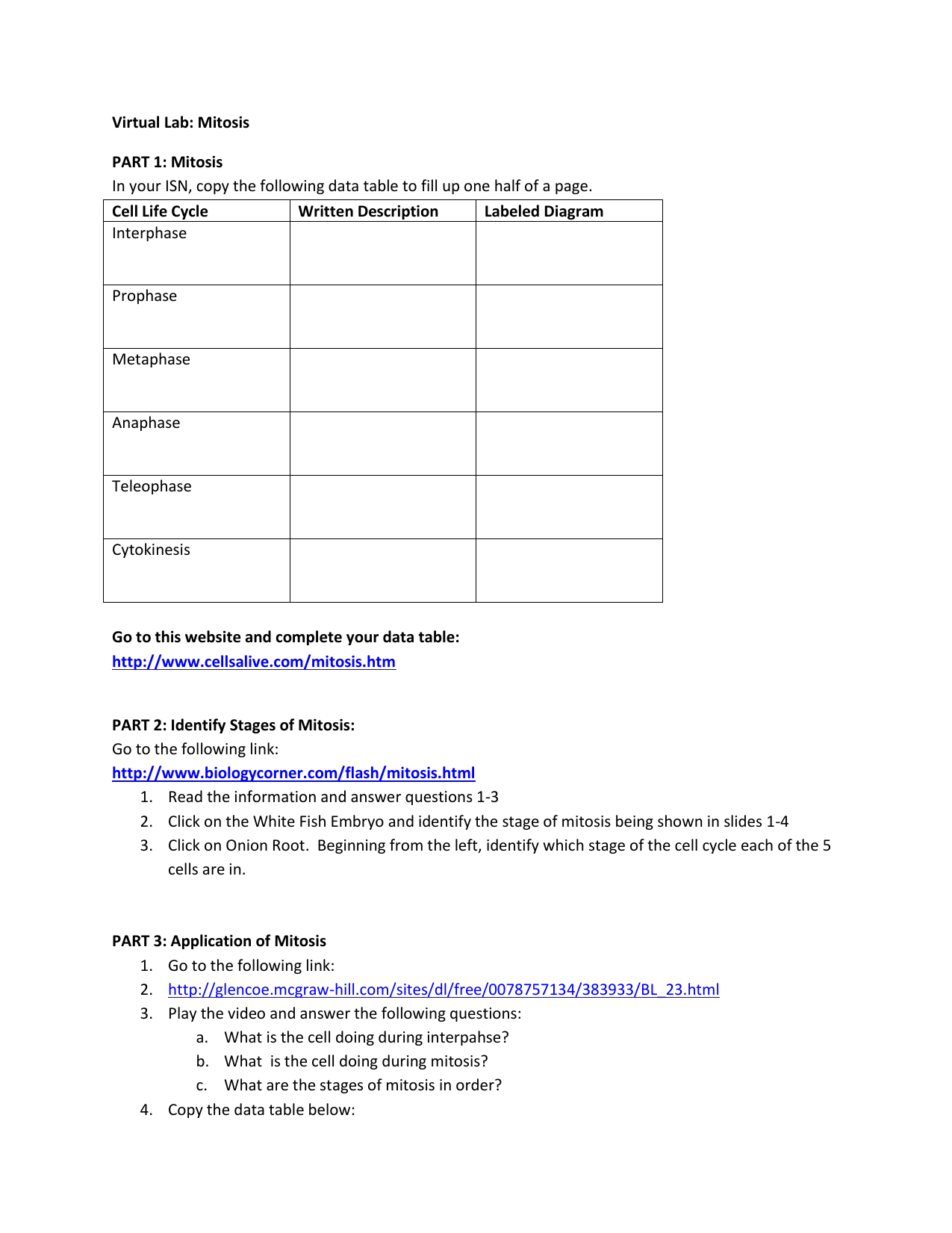 Uncategorized Virtual Lab The Cell Cycle And Cancer Worksheet virtual lab mitosis part 1 in your isn copy the following