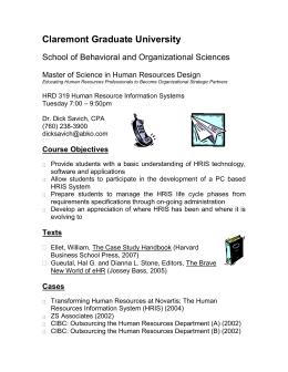 hrd 319 human resource information system