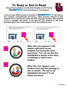 Making Sure Students Read a Story or Passage