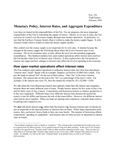Monetary Policy and Interest Rates