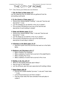 The City of Rome junior worksheet