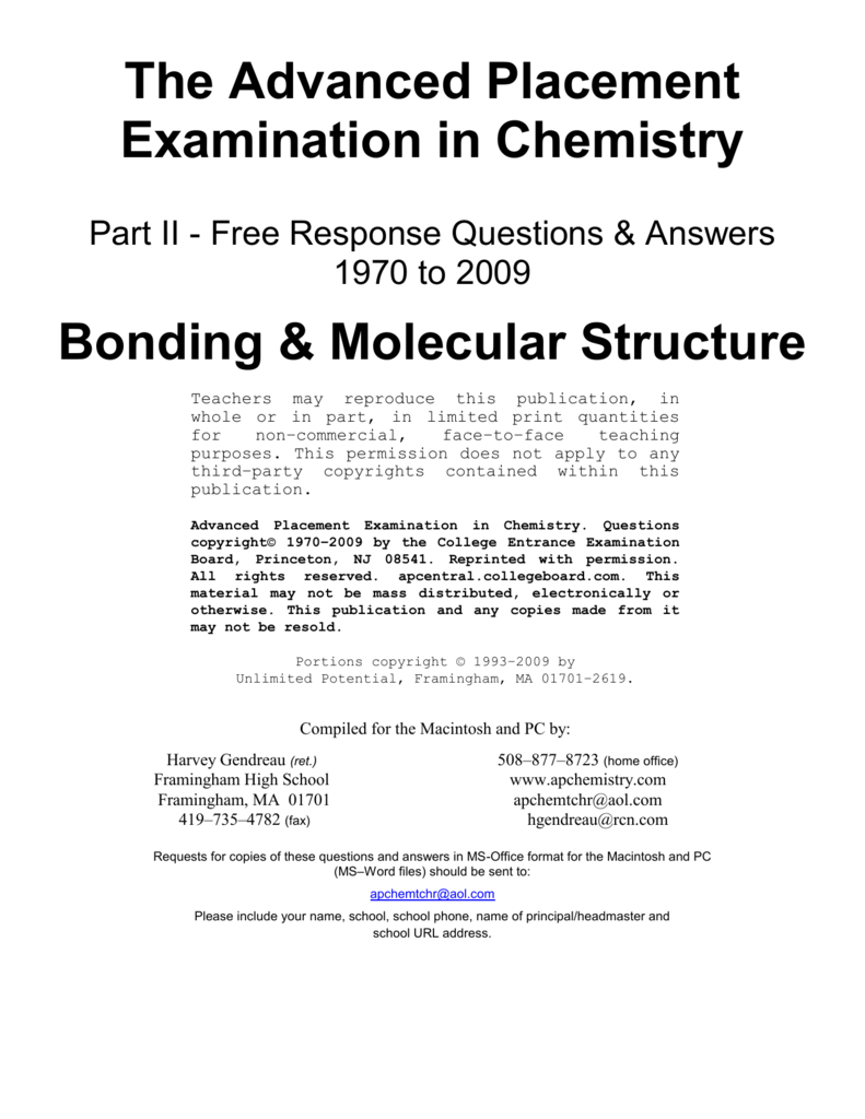 Bonding Molecular Structure