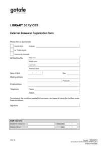 External borrower registration form