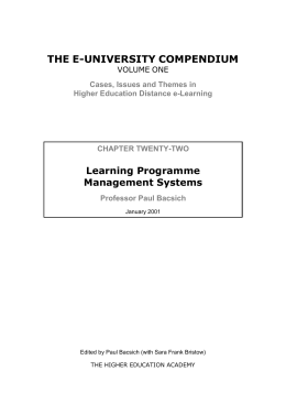 managing international market programme Online program management from pearson online learning services let pearson online learning services help your institution launch or expand online degree programs  outcomes: programs launched by pearson have been market-tested and proven to be in demand by the labor market and prospective learners.
