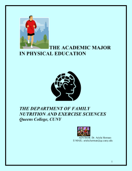 the academic major in physical education - Queens College