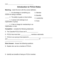 Introduction to FCCLA Notes