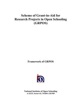 (GRPOS)  - The National Institute of Open Schooling