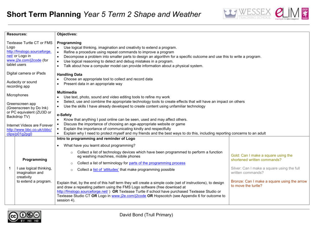 Y5 Term 2 STP Shape and Weather