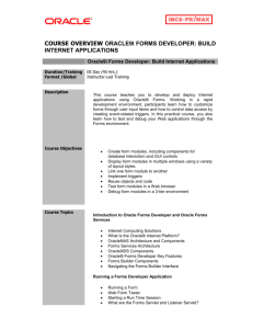 Oracle9i Forms Developer: Build Internet Applications