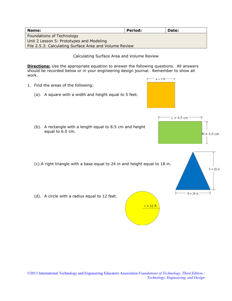 Name: Period: Date: Foundations of Technology Unit 2 Lesson 5