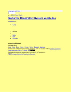 organsystems6 - McCarthy Respiratory System Vocab