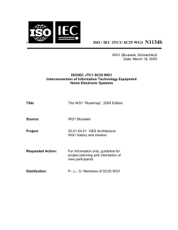 A brief history of WG1 - ISO/IEC JTC1 SC25 WG1 Home Page