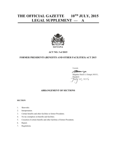Act no. 3 of 2015 - Parliament of Guyana