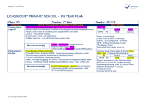 Longniddry primary school – P5 Year Plan