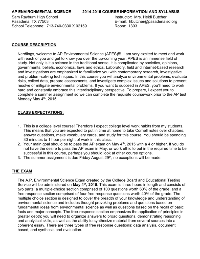chapter 2 apes exam review - 110 AP Environmental Science MULTIPLE-CHOICE  QUESTIONS 1 The zone of the atmosphere in which weather occurs is known as