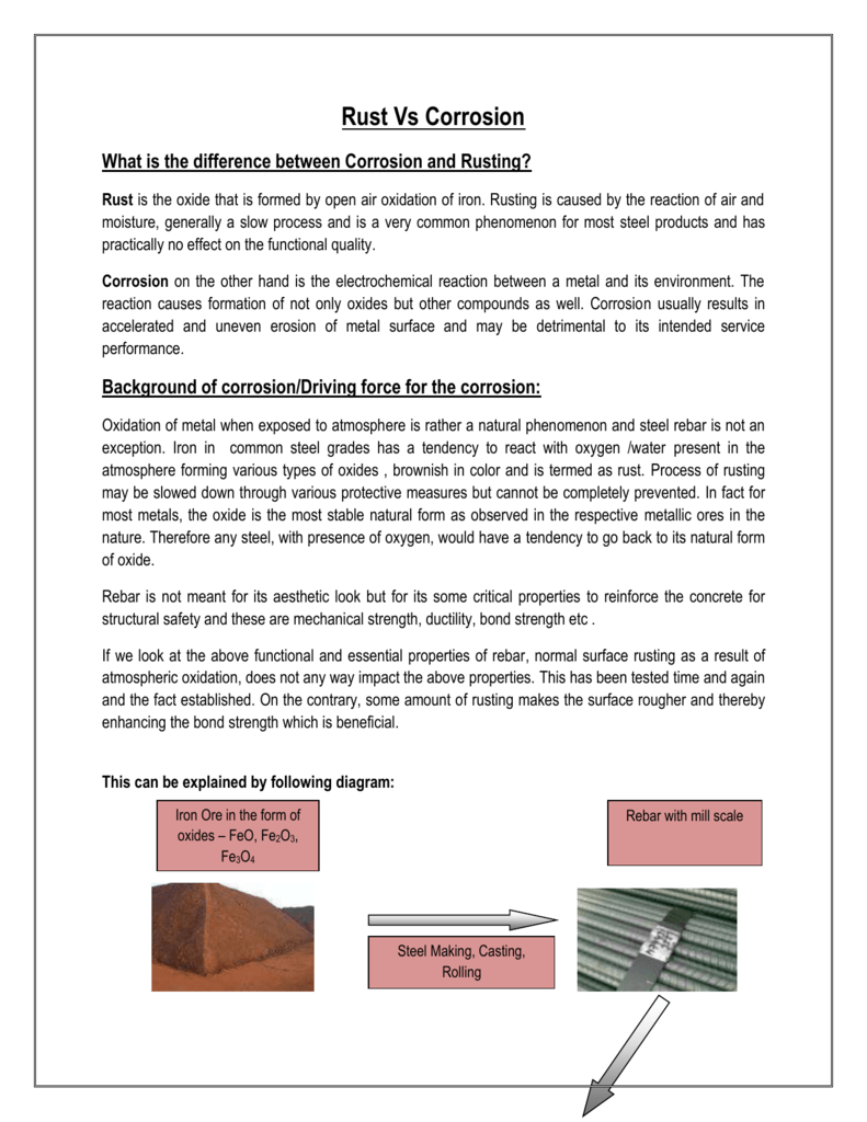Most common causes of corrosion