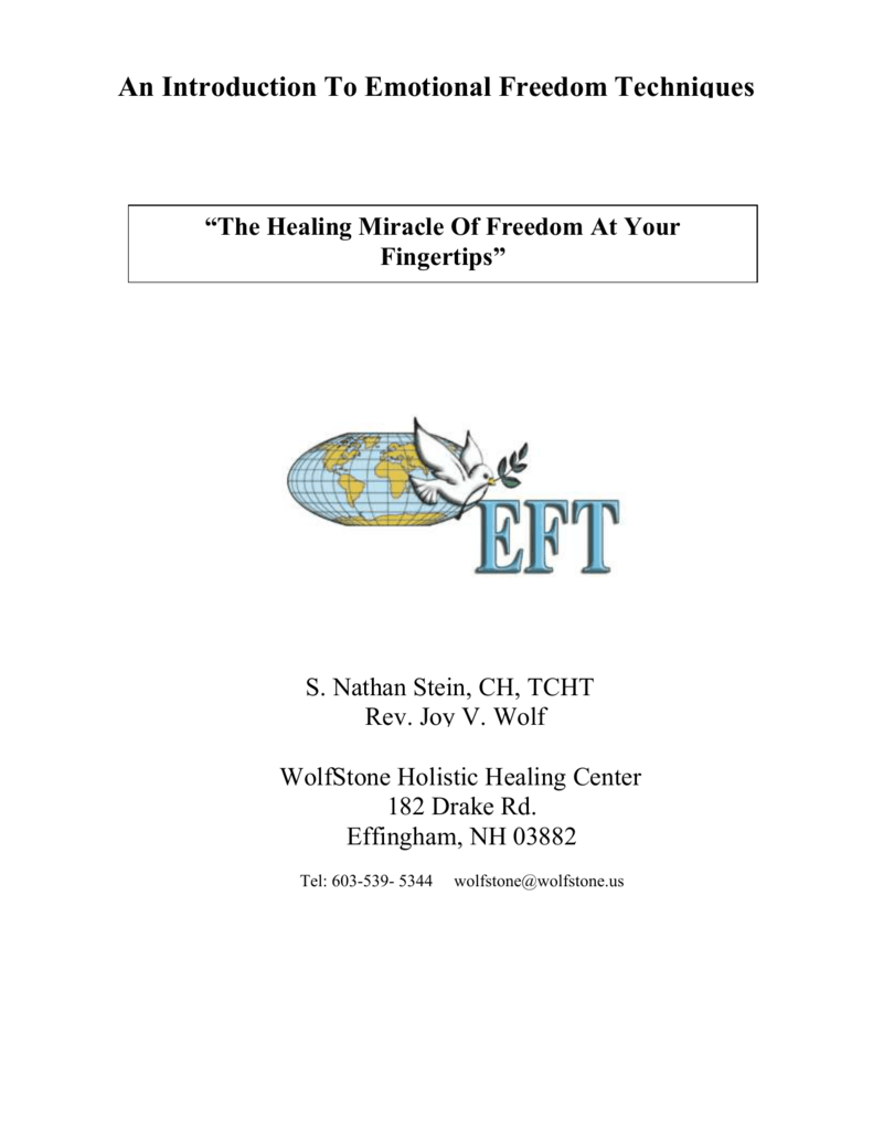 Professional Emotional Freedom Techniques (EFT