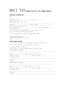 MAUI TAN-Application for Employment