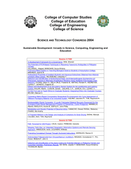 Summary of Proceedings S and T Congress 2004