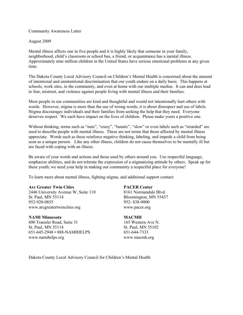 Awareness Letter 2