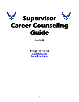 Supervisor Career Counseling Guide