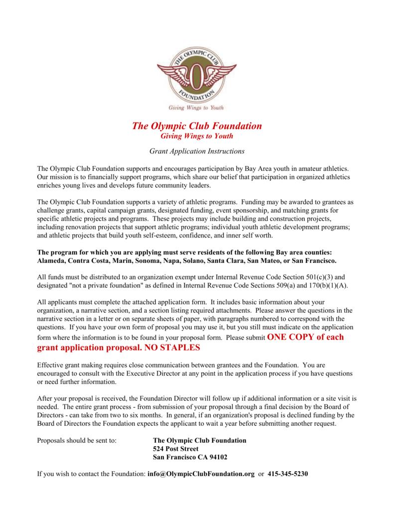 DOC - The Olympic Club Foundation